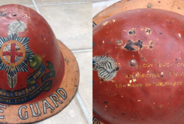 Rare Home Guard Helmet found in East Grinstead garage