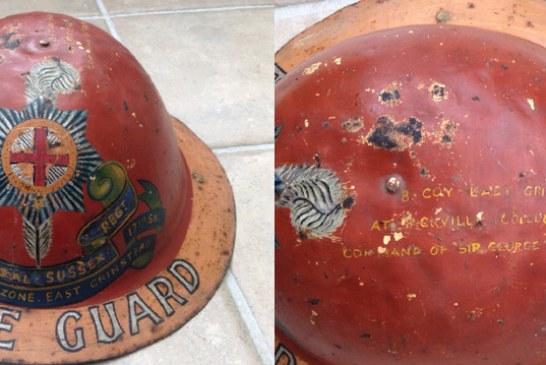 Rare Home Guard Helmet found in East Grinstead garage