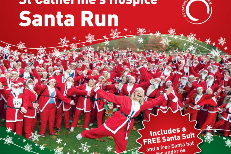 St. Catherine's Hospice Santa Run at Chartham Park