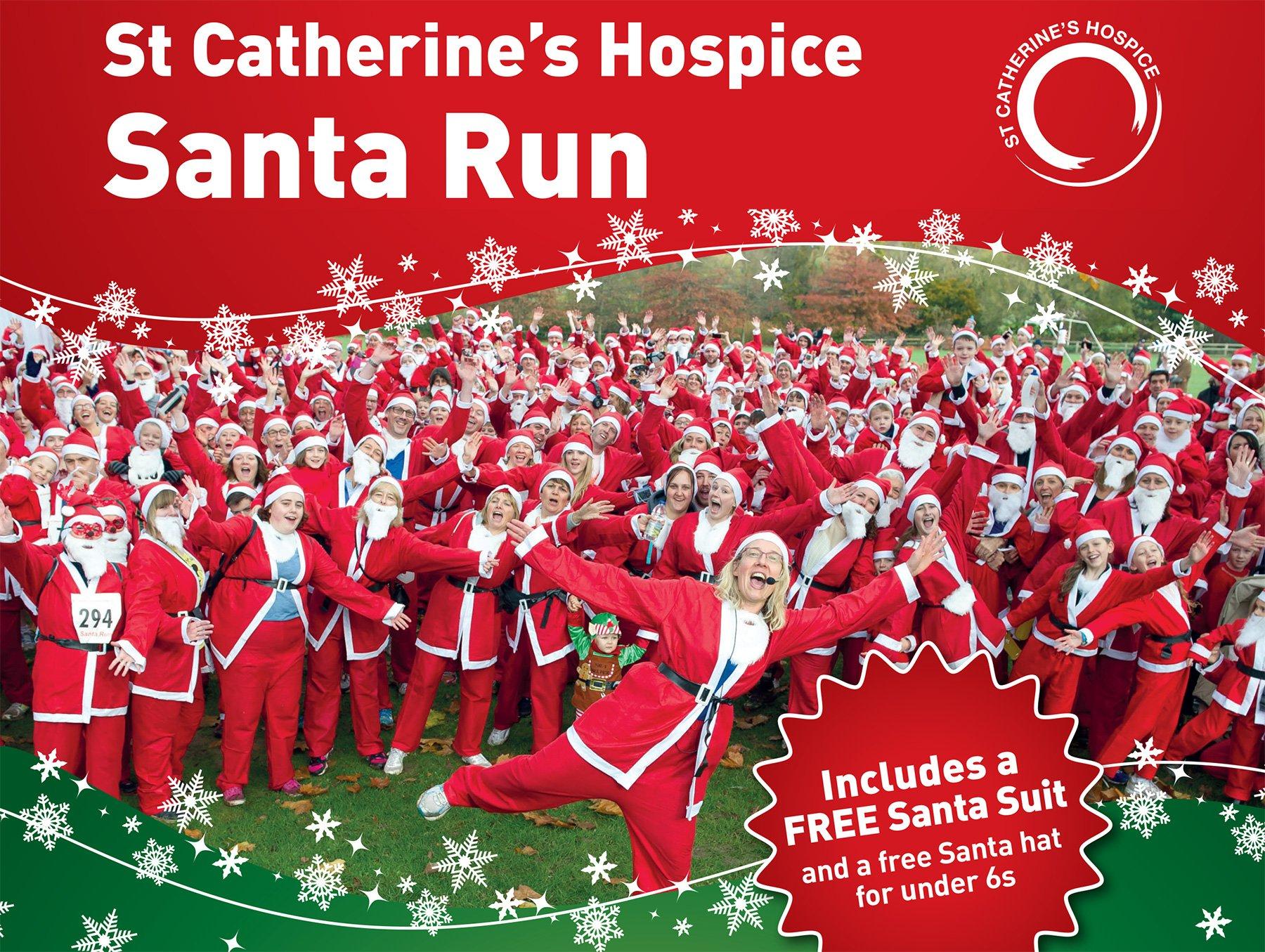 St. Catherine's Hospice Santa Run at Chartham Park