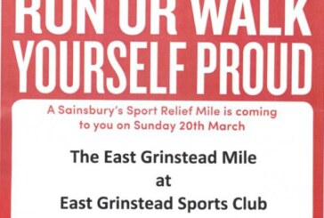 Run or Walk yourself proud at East Grinstead Sports Club