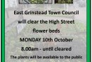 High Street Flower Bed Clearance