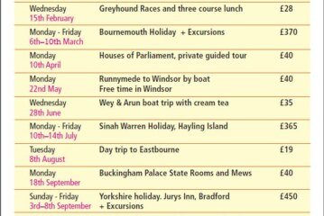 Age Uk East Grinstead & District Outings 2017