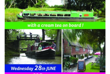 Enjoy a Boat trip along the Wey & Arun canal