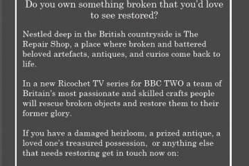 New BBC2 Series looking for restoration projects.