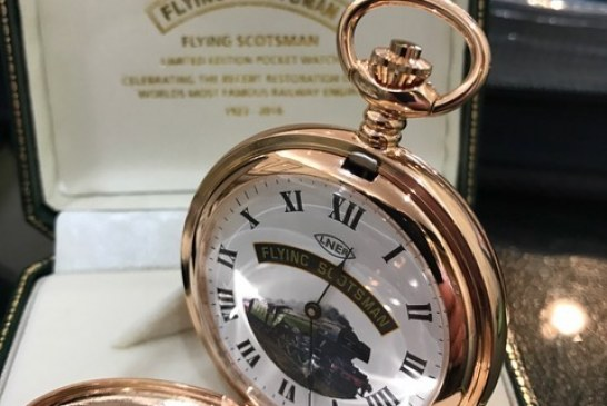 Local Jeweller secures limited edition Flying Scotsman pocket watch