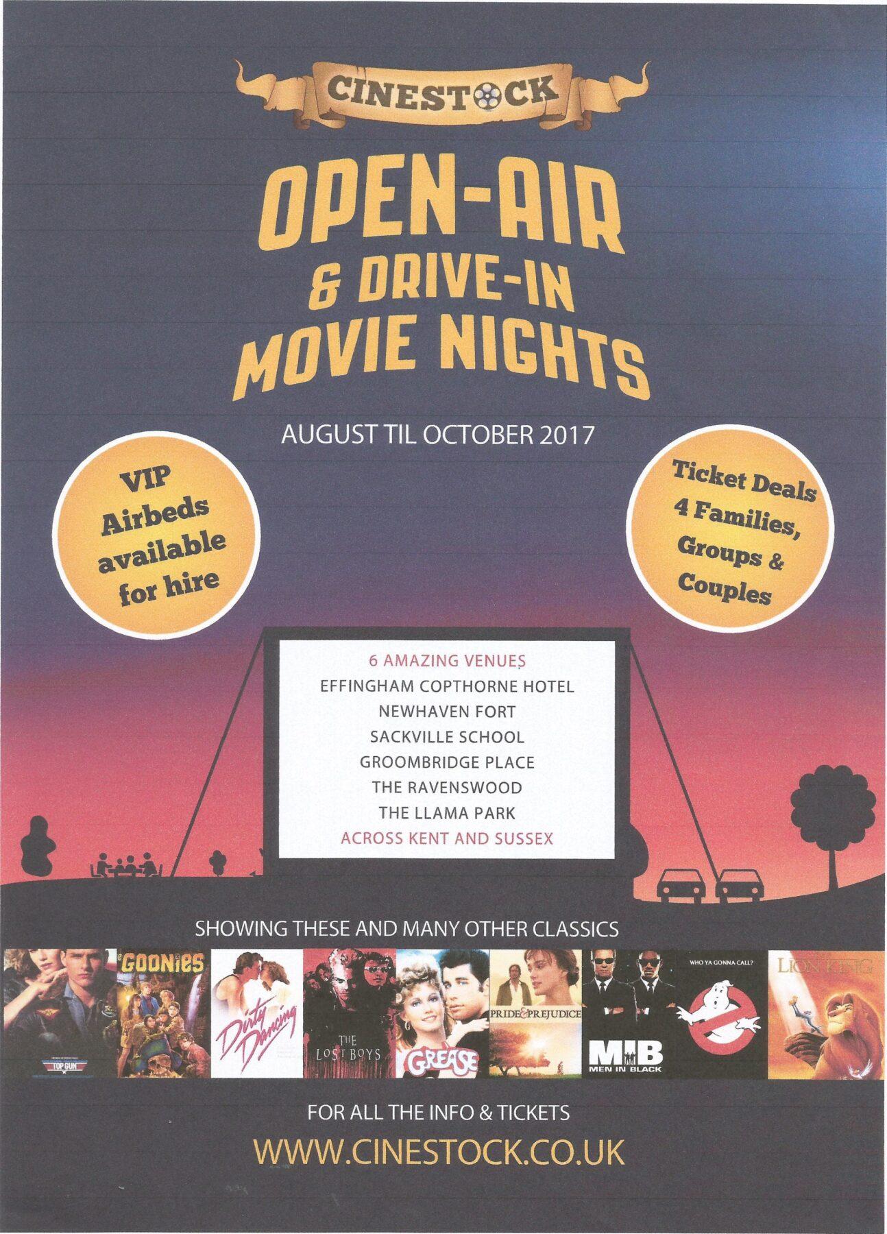 Cinestock Open-Air & Drive-in Movie Nights