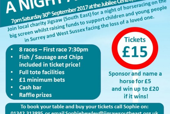 "Jigsaw South East present ""A night at the Races"""