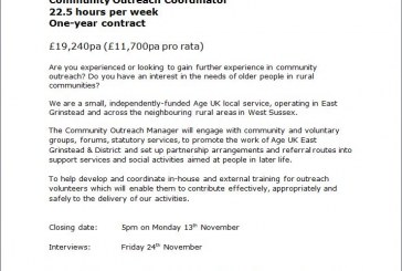 Age UK EG & District: Community Outreach Coordinator
