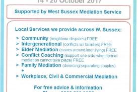 Mediation Awareness Week 14th – 20th October 2017