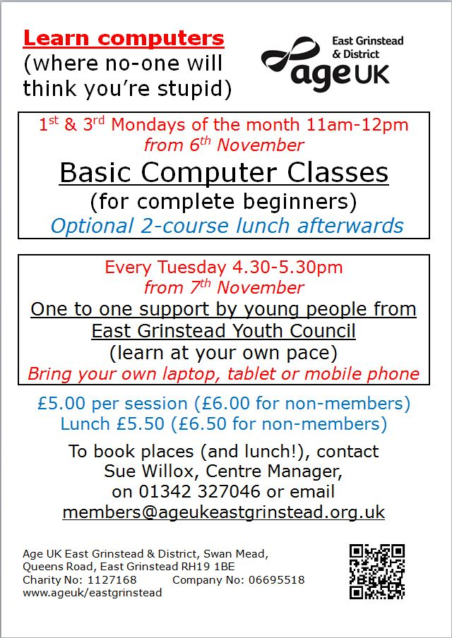 Learn Computers with Age UK