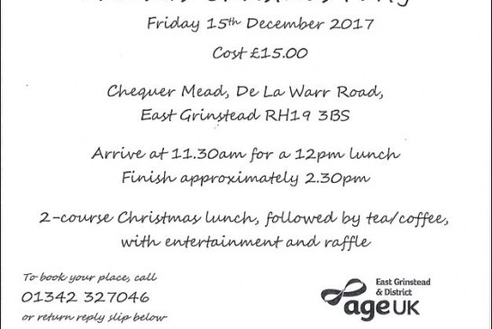 Age UK Christmas Party