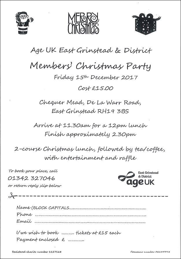 Age UK Christmas Party