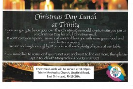 Christmas Day Lunch at Trinity Methodist Church
