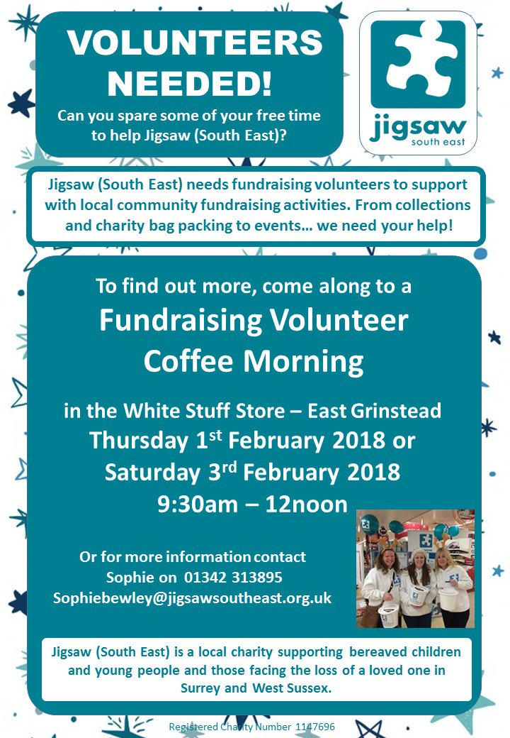 Volunteers needed for Jigsaw