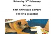 Read to dogs in East Grinstead library.
