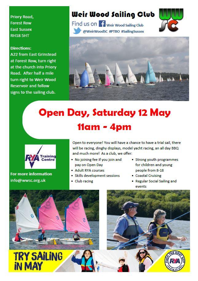 Weir Wood Sailing Club Open Day