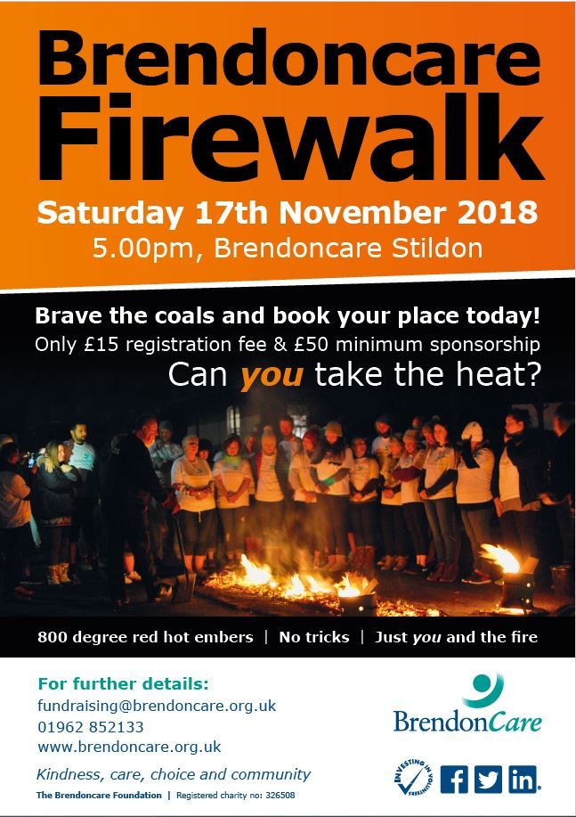 Firewalk for charity