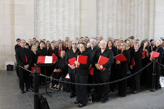 East Grinstead choir sings at Last Post ceremony to honour the fallen of the First World War