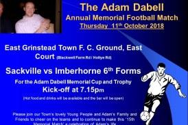15th Annual Adam Dabell Memorial Football Match