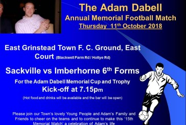 15th Annual Adam Dabell Memorial Football Match
