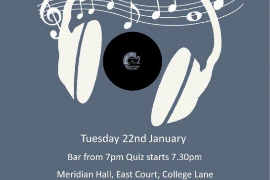 Town Mayor's charity music quiz.