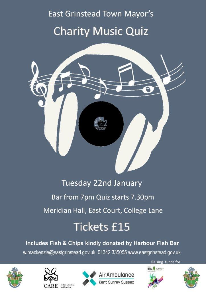 Town Mayor's charity music quiz  | Visit East Grinstead