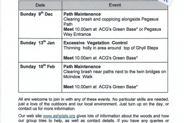 Ashplats Conservation Group – Winter Events
