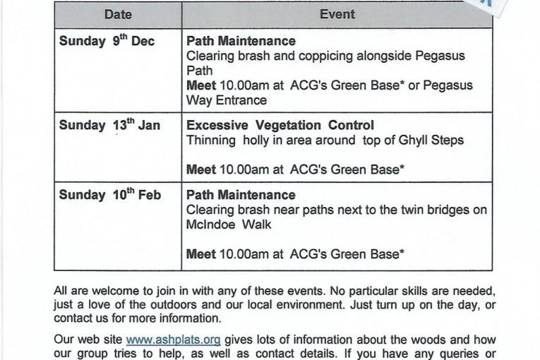 Ashplats Conservation Group – Winter Events