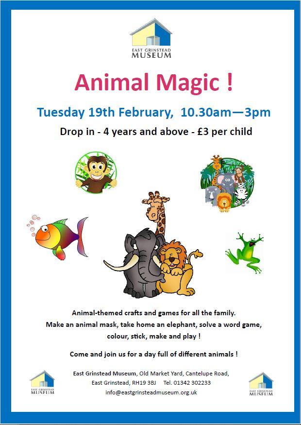'Animal Magic' Family Fun Day, Tuesday 19th February