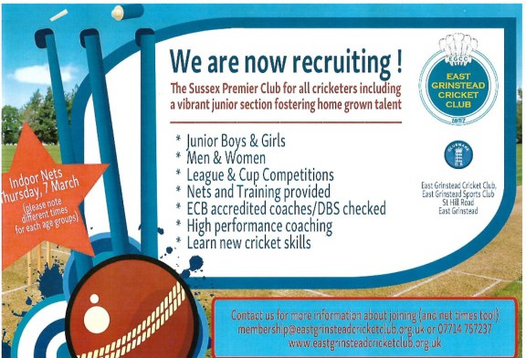 East Grinstead Cricket Club – Recruiting Now!