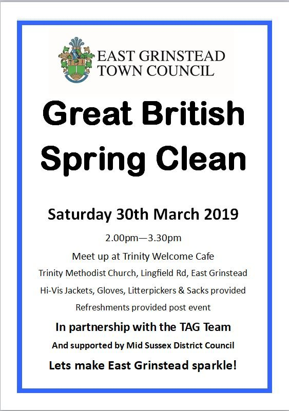 East Grinstead Town Council News. Town Spring Clean