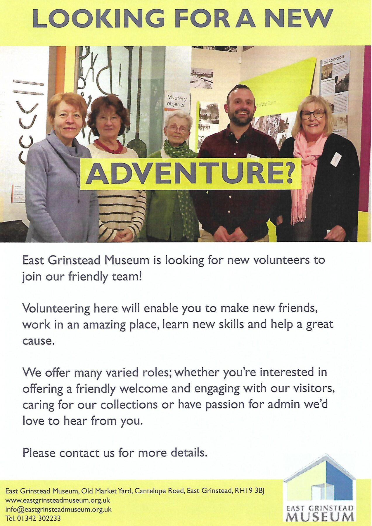 East Grinstead Museum – New Volunteers