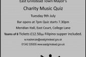 East Grinstead Town Mayor Charity Quiz.