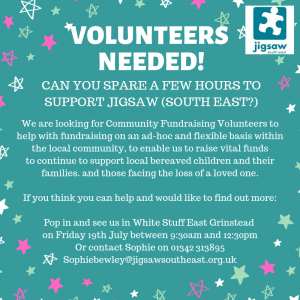 Jigsaw South East – Volunteer Call Out