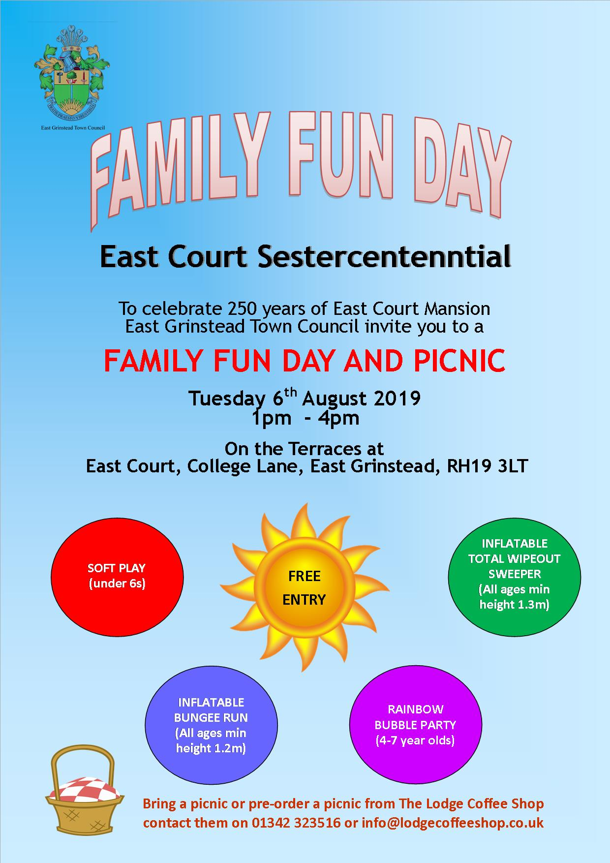 East Grinstead Town Council News; Family Fun Day
