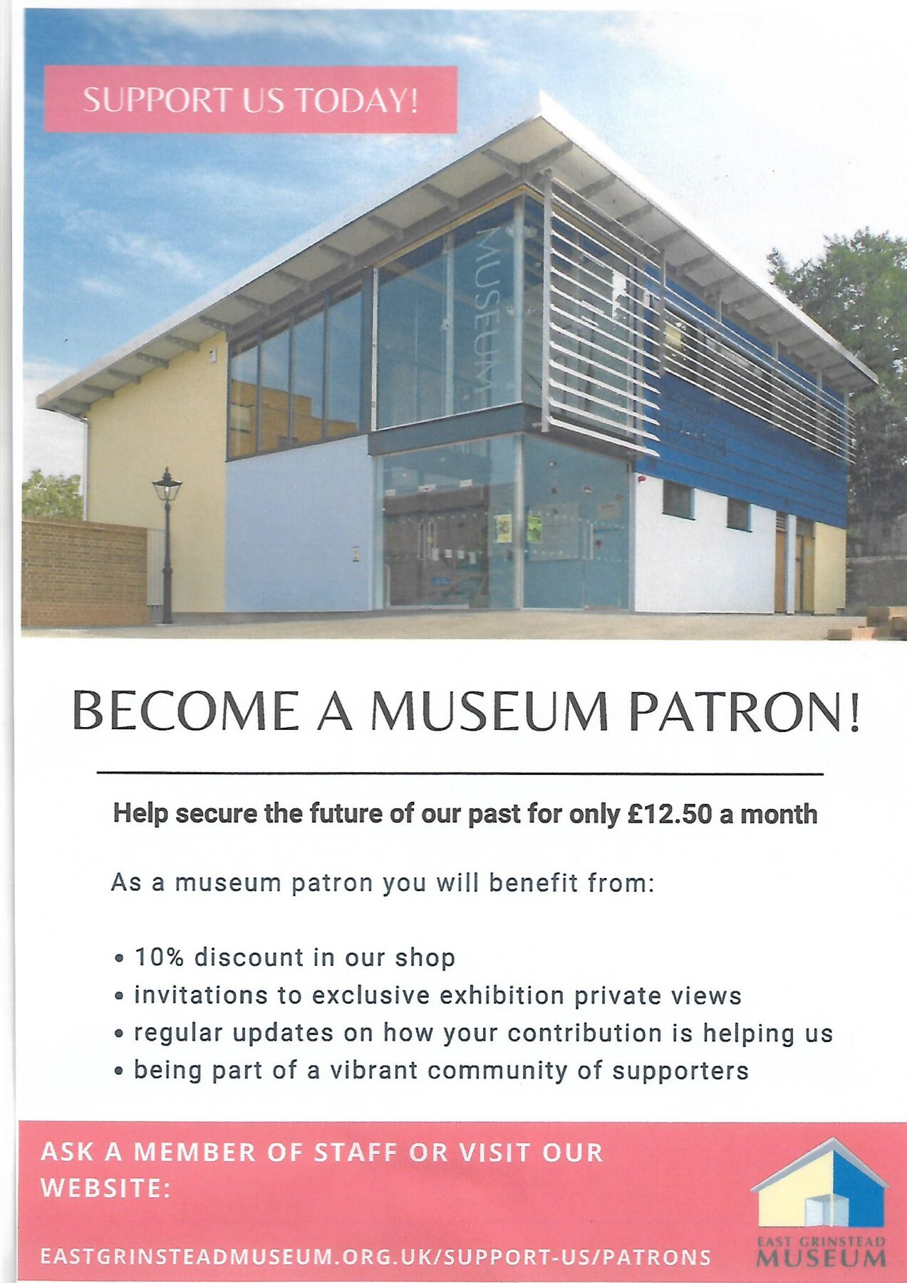 Become a museum patron.