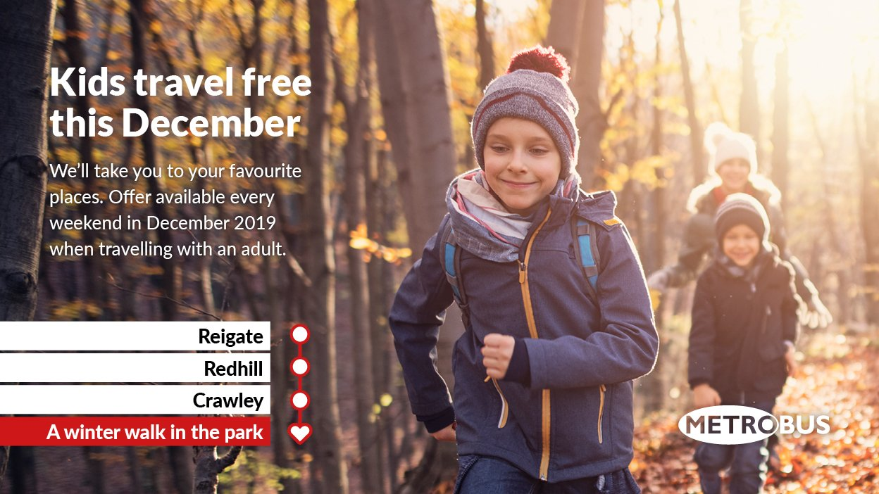 Kids Travel Free at Weekends until the end of December