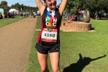 Copthorne woman running the London Marathon for bereaved children wants to beat the Rhino!