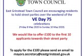 East Grinstead Town Council News: VE Day 75 Street Party Grant