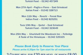 Spring Charity Feasts